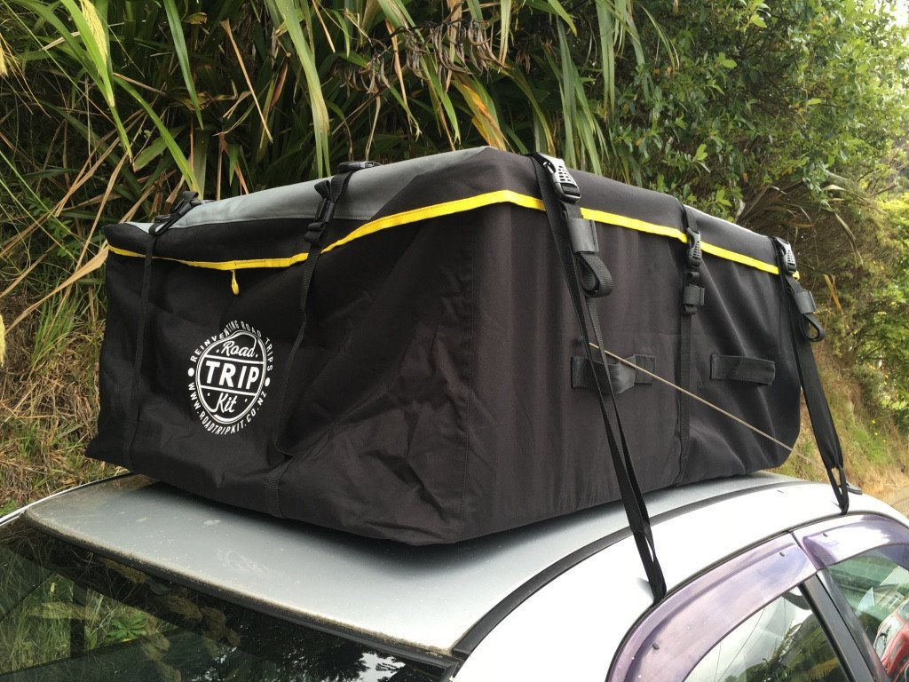 Travel gear car roof bag 425l waterproof no rack hook go road trip kit for Travel gear car