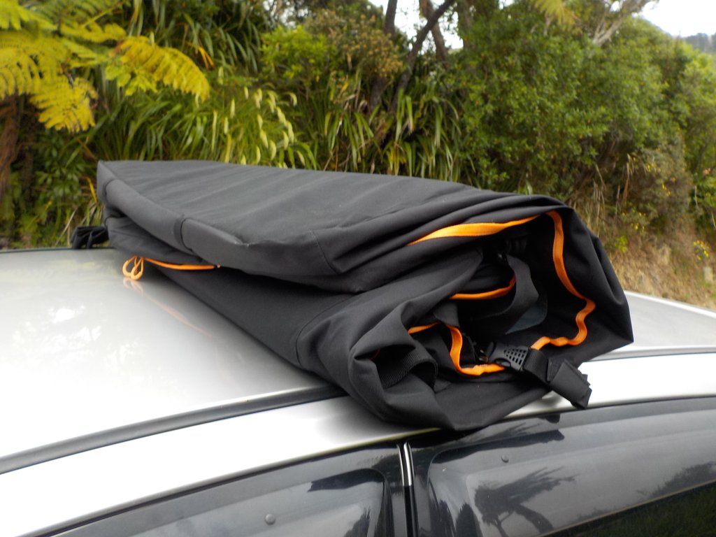 Travel gear car roof bag 800l waterproof no rack hook go road trip kit for Travel gear car